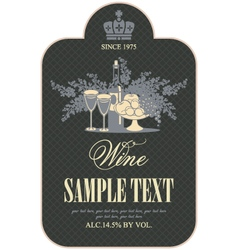 Wine label vector