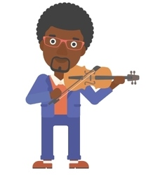 Man playing violin vector