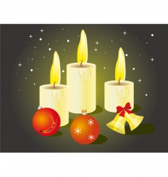 Christmas candles and toys vector