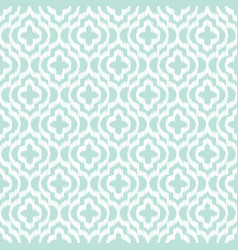 Blue ikat qatrefoil seamless pattern vector