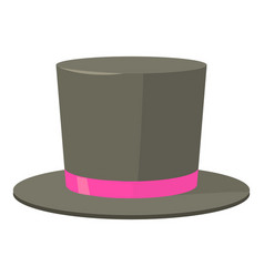 Bowler hat icon cartoon style vector