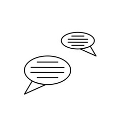 Chat bubles icon vector