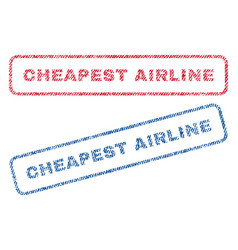 Cheapest airline textile stamps vector