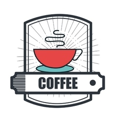 Coffee house shop isolated icon vector