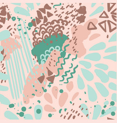 color paints seamless pattern of geometric vector image