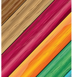 Colorful wooden vector