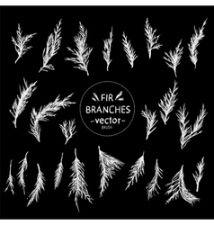 Decorative hand in the form of fir branches vector image