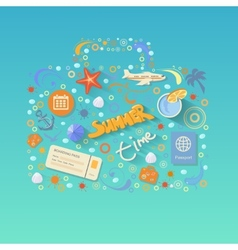 Flat design style modern concept of traveling on vector image