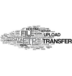 Ftp word cloud concept vector