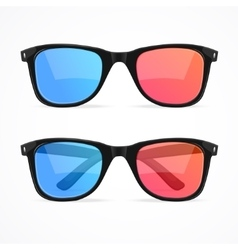 Glasses for Cinema Set vector image