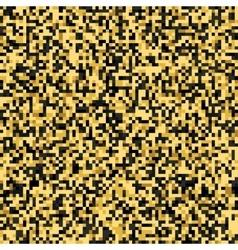 Golden Tones Pixel Pattern vector image vector image