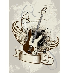 Guitar Wings vector image vector image
