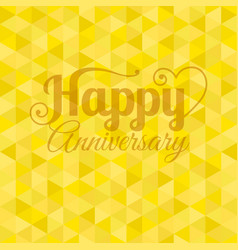 happy anniversary letter vector image