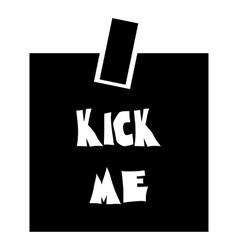 Inscription kick me icon simple style vector