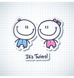 its twins vector image vector image
