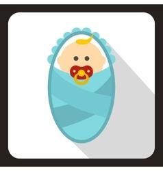 Newborn baby icon flat style vector image