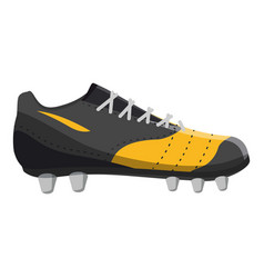 Red and yellow football or soccer shoe icon vector