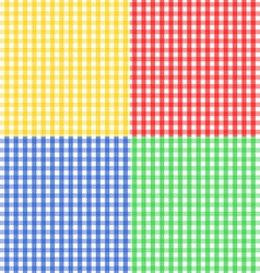 Seamless gingham pattern in four colors vector image vector image