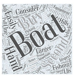 SF choosing the right fishing boat Word Cloud vector image vector image