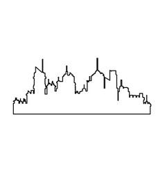 Silhouette skyline city urban town buildings vector