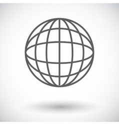 Simple World globe 2 vector image vector image
