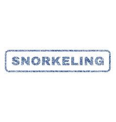 Snorkeling textile stamp vector