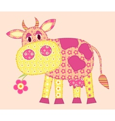stitched cow vector image