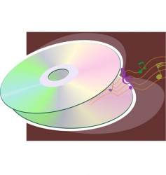 storage disk vector image vector image
