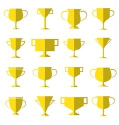 Trophy icon set vector image