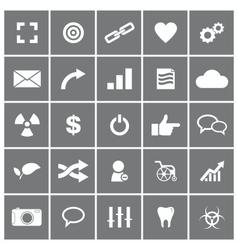 Universal Flat Icons Set 4 vector image vector image