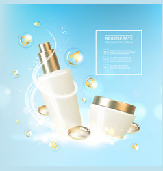 vitmin and regenerate cream vector image