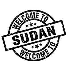 Welcome to sudan black stamp vector