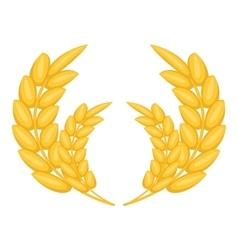Wheat ears frame icon cartoon style vector image vector image
