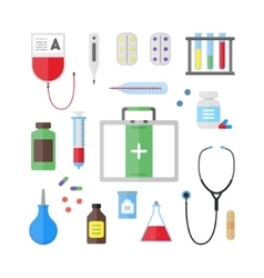 Medical healthcare tool and equipment set vector