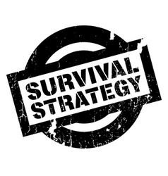 Survival strategy rubber stamp vector