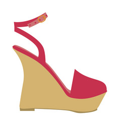 color silhouette of sandal shoe with platform sole vector image