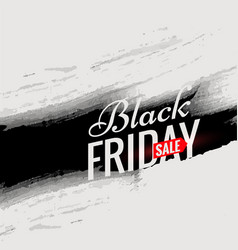 Black friday sale poster template with black ink vector
