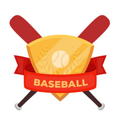 emblem baseball single icon in cartoon style vector image
