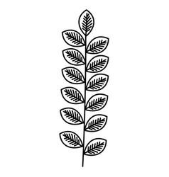 leafs wreath decorative icon vector image