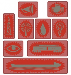 Industrial age icons and symbols vector