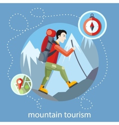 Mountain tourism vector image