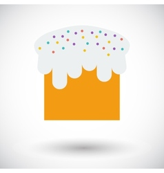 Easter cake single icon vector
