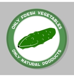 Cucumber label design vector