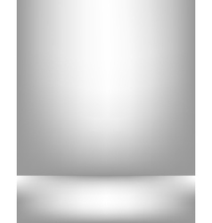Gray studio backdrop interior vector