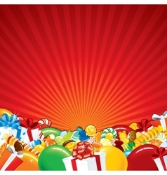 Festive Background Template vector image