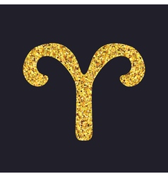Aries gold vector