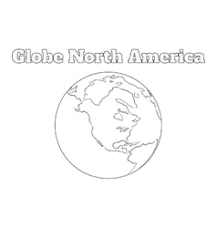 Globe North America view vector image