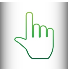 Hand sign green gradient icon vector