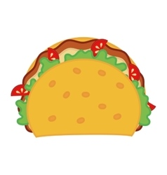 Taco icon fast food design graphic vector