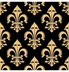 Tracery of fleur-de-lis elements seamless pattern vector